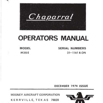 Continental Model E-165,E-185 & E225 Operator's Manual and
