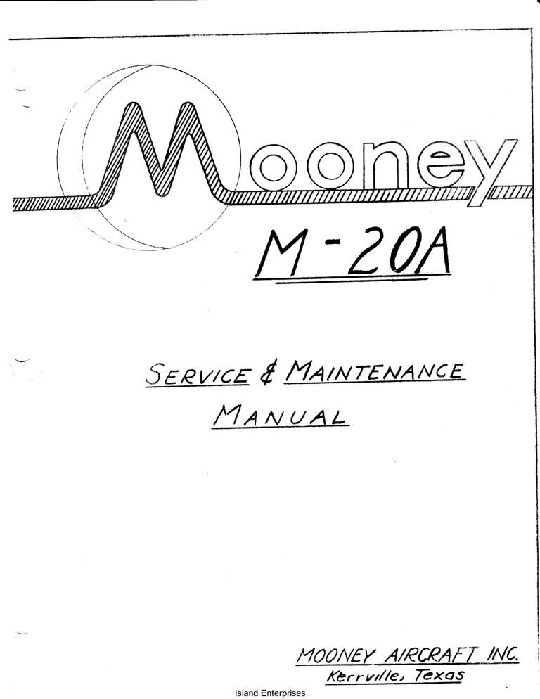 Mooney M-20A Service & Maintenance Manual