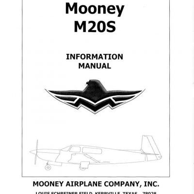 Mooney M20S POH3750A Information Manual