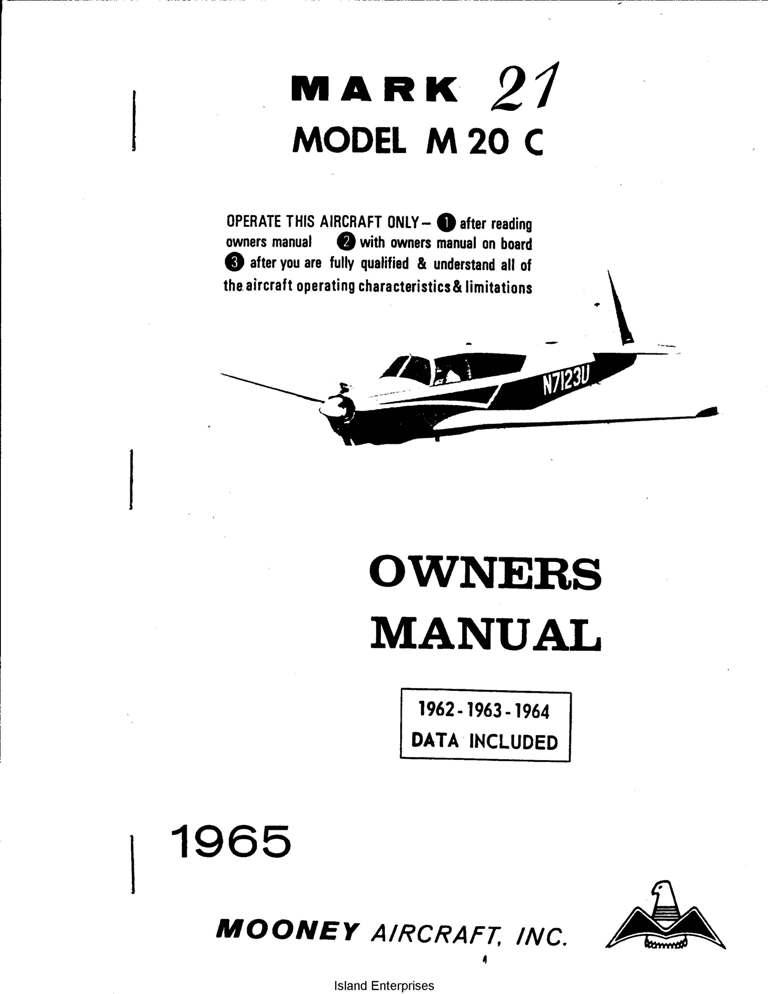Mooney Mark 21 M20C Owners Manual