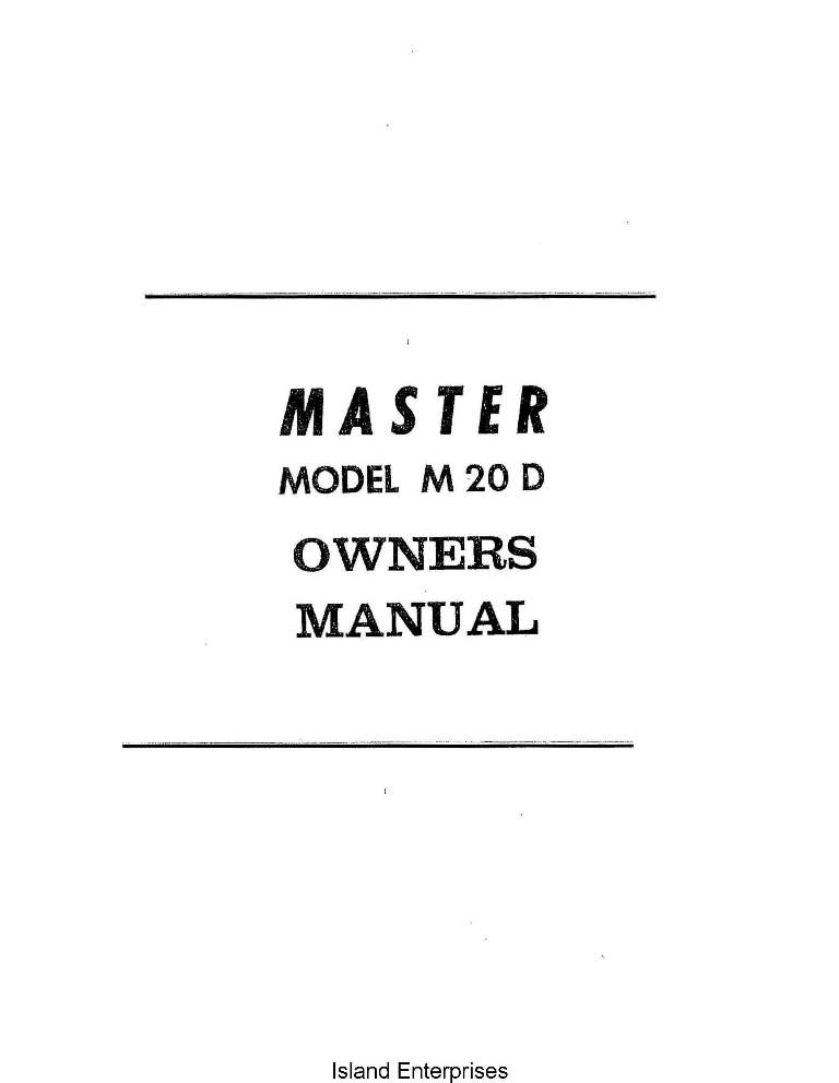 Mooney Master M20 D Owners Manual