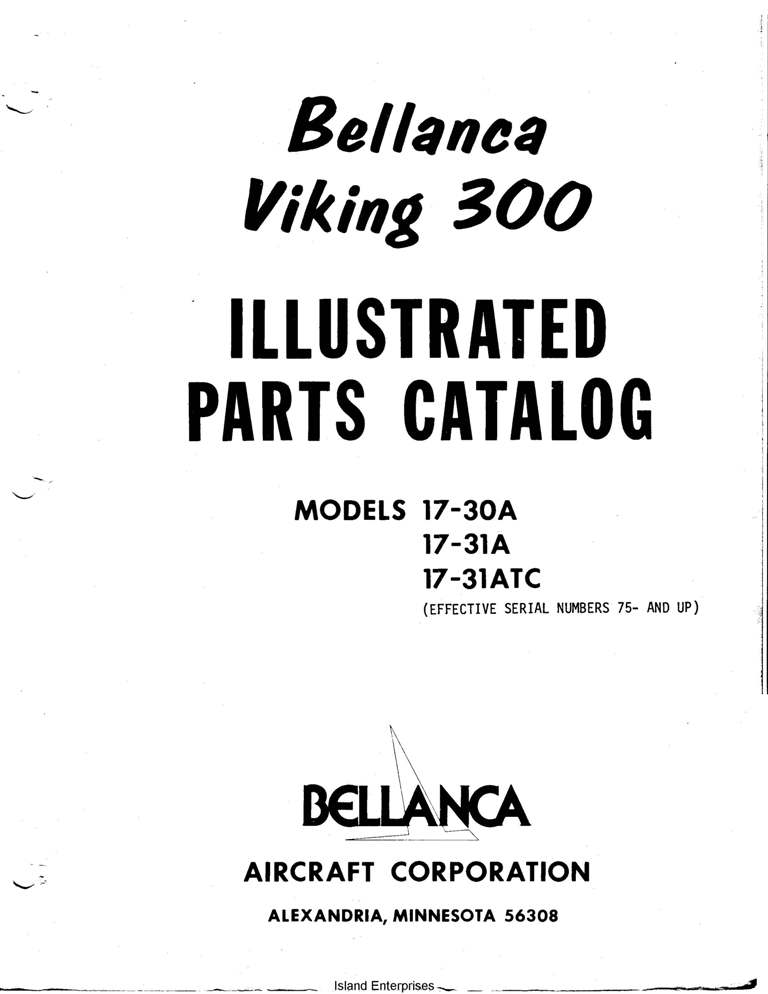 Bellanca Viking 300 Parts Catalog 17-30A-31A-31ATC