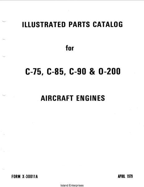Continental C75, C-85, C-90 & 0-200 1979 Illustrated Parts