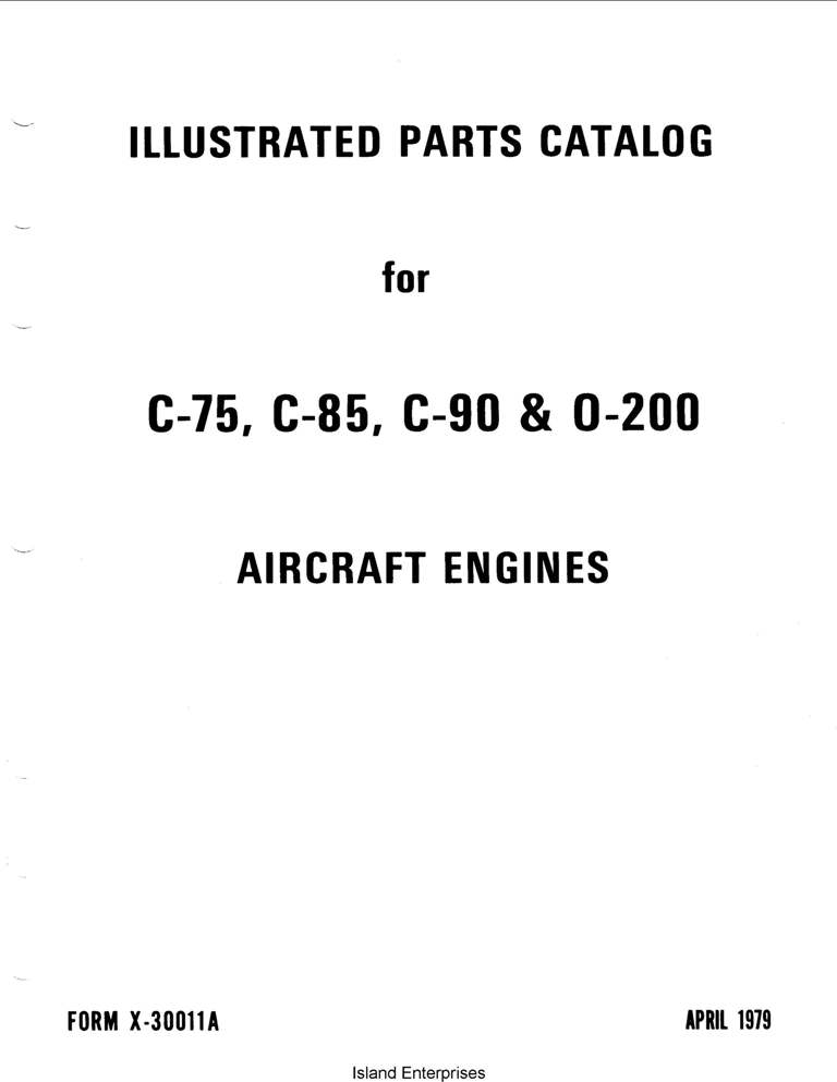 Continental C75, C-85, C-90 & 0-200 1979 Illustrated Parts