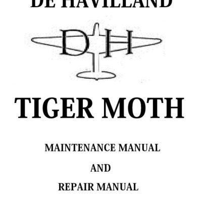 De Havilland Tiger Moth II Spare Parts Schedule