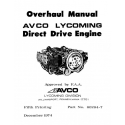 Lycoming Direct Drive Engine 60294-7-9-10B