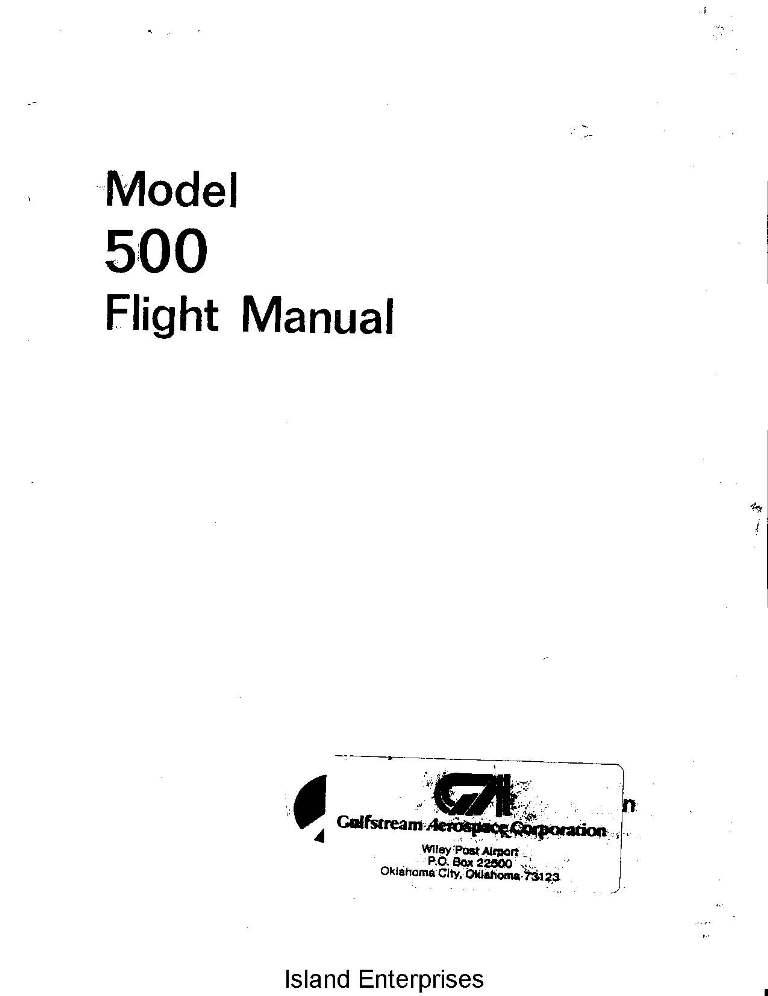 Aero Commander 500 Flight Manual
