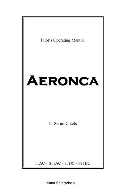 Aeronca 11 Series Chiefs 11AC, S11AC, 11BC & S11BC Pilot's