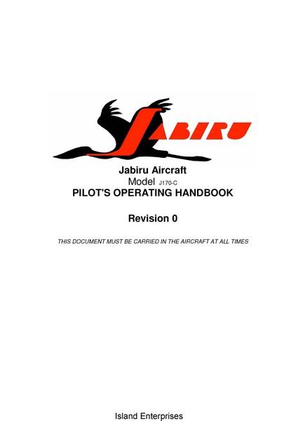 Jabiru J170-C Pilot's Operating Handbook 2007