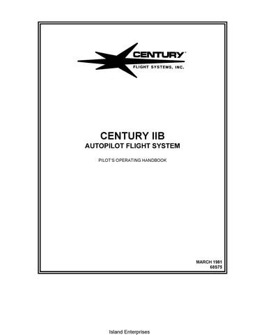 Century IIB 68S75 Autopilot Flight System Pilot's