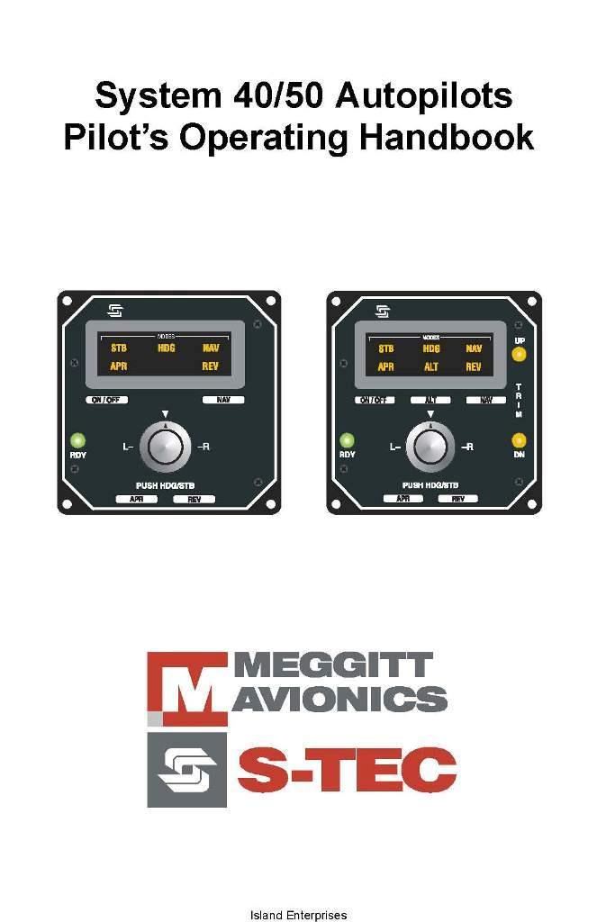 S-Tec System 40/50 Autopilots Pilot's Operating Handbook 2002