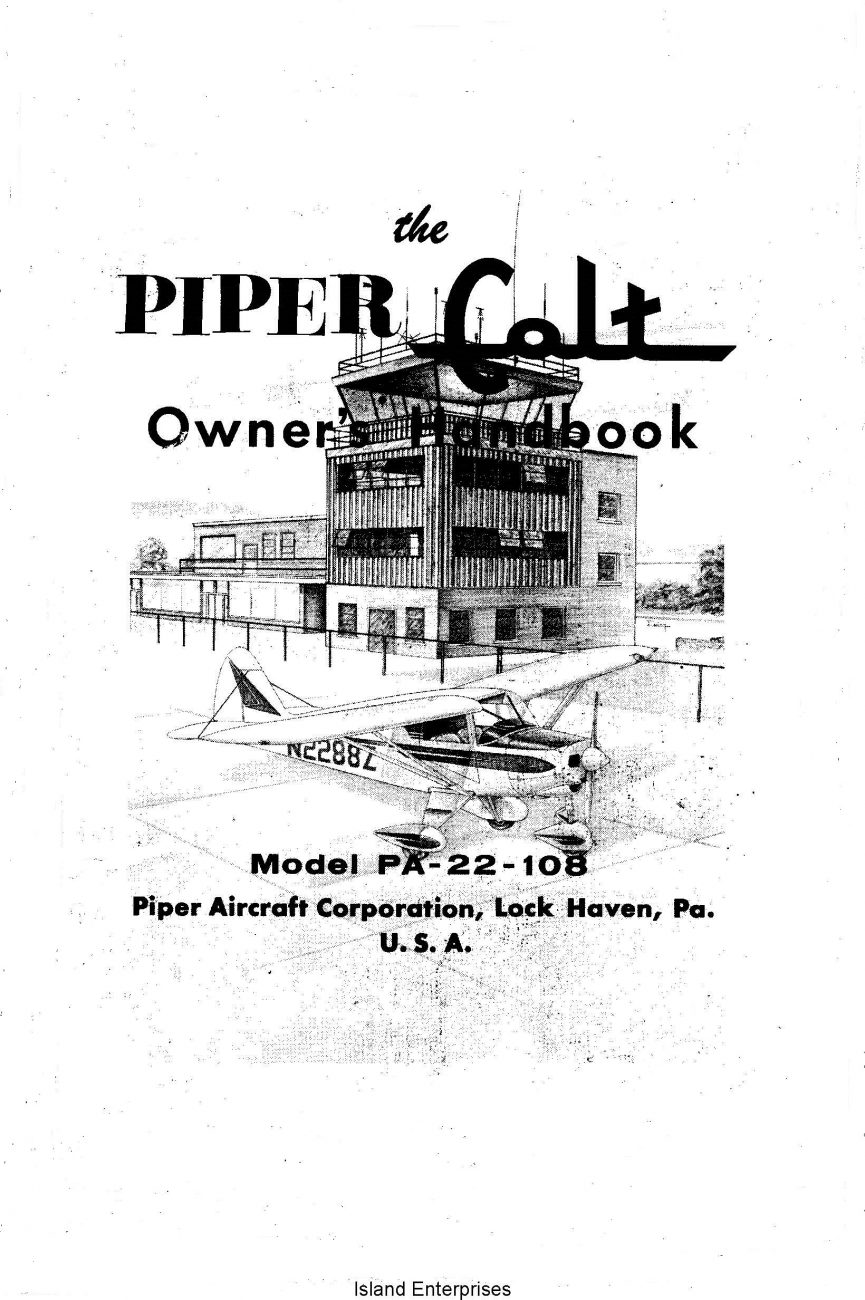 Piper Colt PA-22-108 Owner's Handbook 753-594