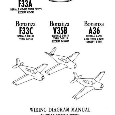 Becchcraft Bonanza F3A, F33C, V35B, A36 Wiring Diagram
