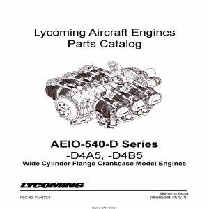 Lycoming Parts Catalog AEIO-540-D Series PC-615-11 v2001