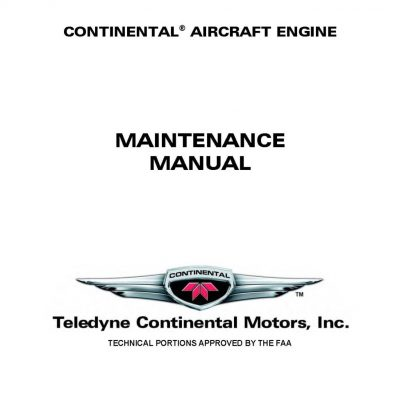 Continental L-TSIO-360-RB Maintenance Manual X-30645