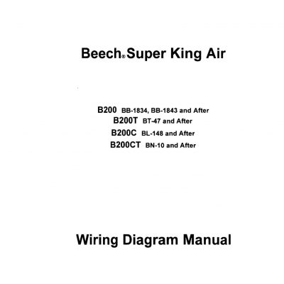 Beechcraft Super King Air B200-B200T-B200C-B200CT Wiring