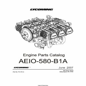 Lycoming Parts Catalog AEIO-580-B1A Part # PC-701-2