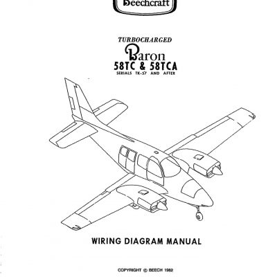 Beechcraft Baron 58TC-TCA Wiring Diagram Manual 106-590000