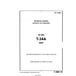 Beechcraft T-34A USAF Series Technical Manual Illustrated