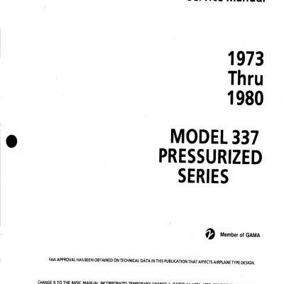 Cessna Model 337 Pressurized Series Service Manual (1973
