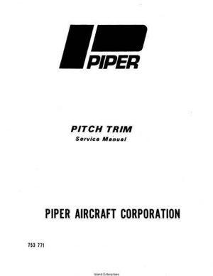 Piper Pitch Trim Service Manual 753-771
