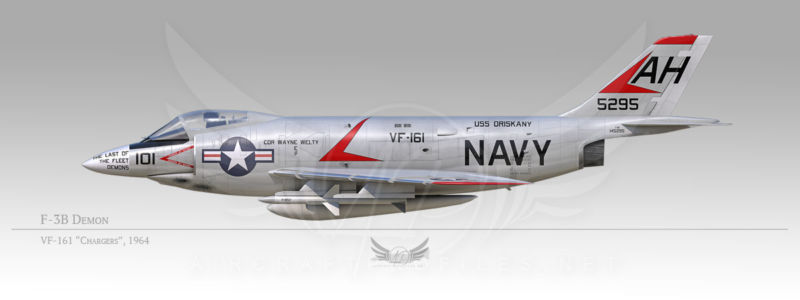 """F-3B Demon, VF-161 """"Chargers"""", 1964"""