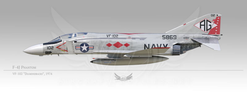 "F-4J Phantom, VF-102 ""Diamondbacks"", 1974"