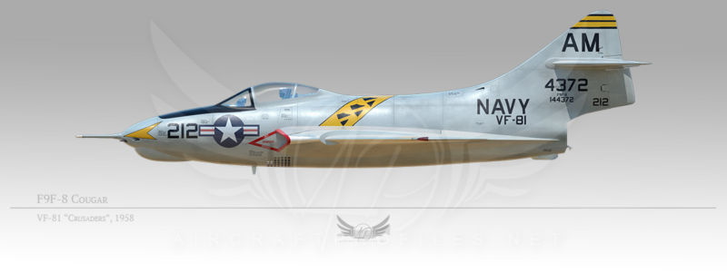 "F9F-8 Crusader, VF-81 ""Crusaders"", 1958"