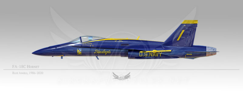 FA-18C Hornet, Blue Angels, 1986-2020