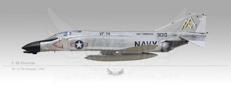 "F-4B Phantom, VF-74 ""Be-Devilers"", 1967"