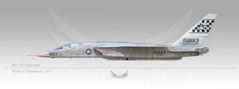 "RA-5C Vigilante, RVAH-11 ""Checkertails"", 1972"