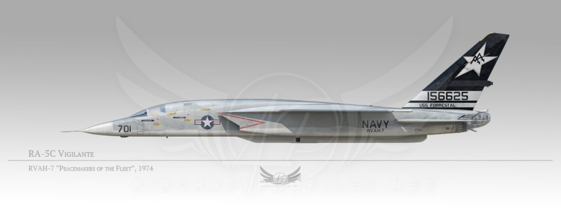 "RA-5C Vigilante, RVAH-7 ""Peacemakers of the Fleet"", 1974"