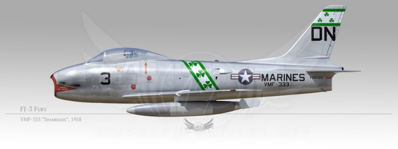 "FJ-3 Fury, VMF-333 ""Shamrocks"", 1958"