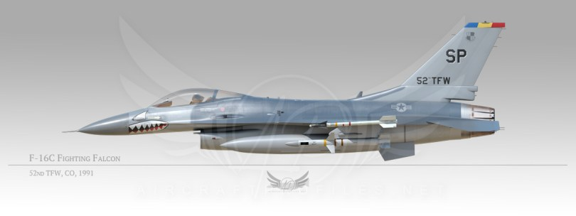 F-16C Fighting Falcon, 52rd Tactical Fighter Wing, CO, 1991