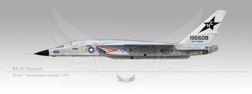 "RA-5C Vigilante, RVAH-7 ""Peacemakers of the Fleet"", 1979"