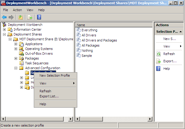 WorkbenchSelectionProfile