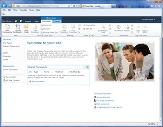Office365 SharePoint Home