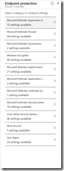 Intune Endpoint Protection Policies