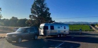 Airstream trailer at the campground