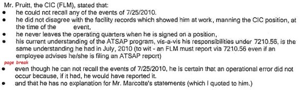 20110614.. FLM Pruitt interview notes (McClure email to Ferrante)