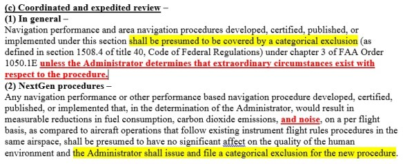 20120214scp.. 'expedited review' portion of Section 213, H.R. 658, 112th Congress, FAA Modernization and Reform Act of 2012, re CATEX