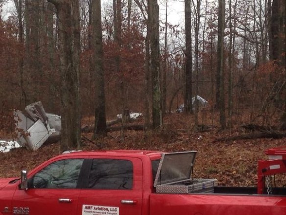 20150102.. PA34 crash debris (credit - Nick Chabarria,KFVS)