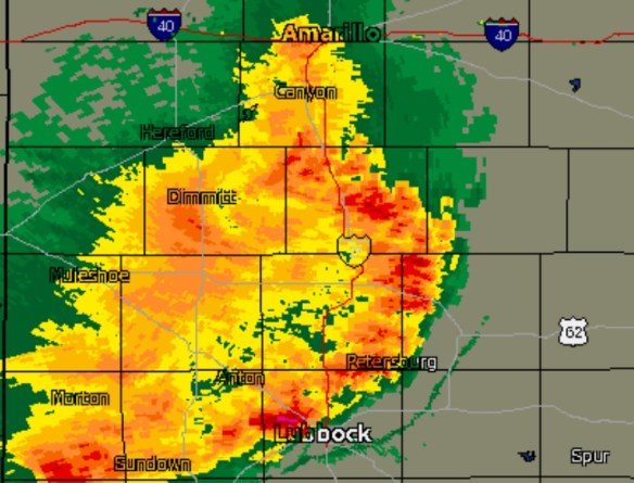 NEXRAD image at 10:00PM local time.