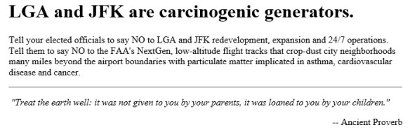 20160314scp.. 'LGA & JFK are Carcinogenic Generators, & an ancient proverb' (portion of post by NextGenNoise.org)