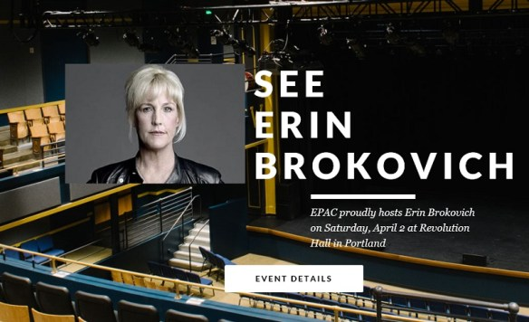 20160402scp.. See Erin Brokovich (promo for speaking engagement in Portland, OR)