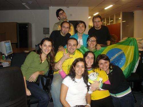 Em 2006, durante a minha primeira Copa em Buenos Aires, na agência de publicidade em que trabalhava.