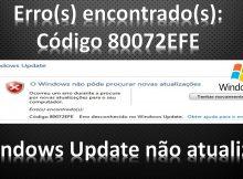 Windows Update não atualiza? Windows7 – Solução 4