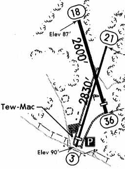 the 1994 jeppesen airport directory depicted tew mac as