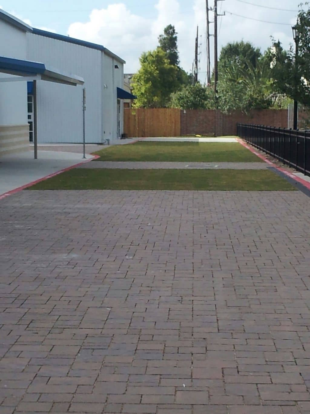 Grass paving with airpave at montessori school houston tx for Fire sprinkler system cost calculator
