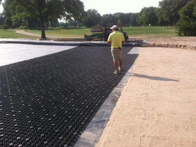 Agronomic, LEED, turf, landscape, drainage, golf, bunkers, tee boxes, golf greens, sub-surface, natural turf, sand profile, USGA, usga drainage, swale, bio swale, sand traps, bunker drainage, water retention, perched water table, water reuse, storm water management, caddetails, cad details, drainage layer, synthetic drainage layer, sand based field, sand based profile, usgbc, asla, aia, green building, golf drainage, airdrain geocell, golf greens, greens, airdrain, putting green, putting green drainage, golf green drainage, golf green construction, perched water table, fairway drainage, cart paths, golf construction, golf, golf course construction, practice greens, golf drainage, golf course drainage, bunker drainage, water drainage, sand bunker drainage, tee box drainage, airdrain, air drain, airgrid, air grid
